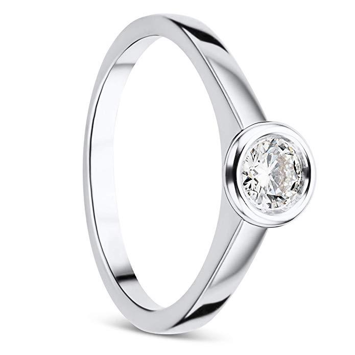 Orovi 18 Karat (750) Weißgold Ring mit Diamant Brillianten von Orovi